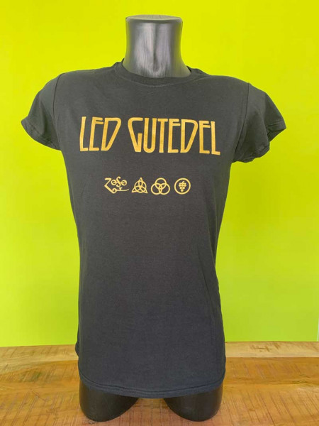 "LED GUTEDEL ""Girlie Shirt"" GOLD Sonderkollektion in S - L , WINE MERCH Markgräfler Weintheke.de"