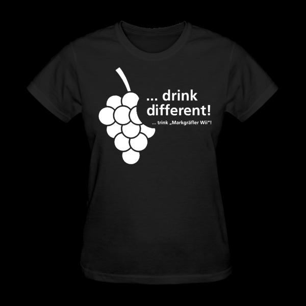 "DRINK DIFFERENT ""Girlie-Shirt"" - Markgräfler Wine Merch"